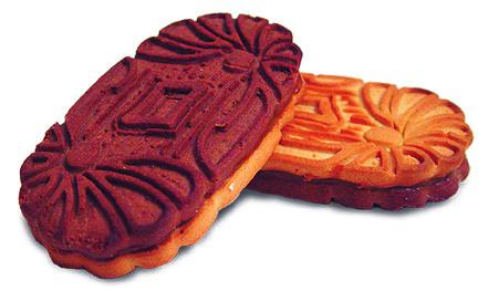 Печенье «Двухцветное» с начинкой из вареного сгущеного молока