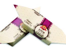 Конфеты «Крем-суфле черносмородиновое глазированное»